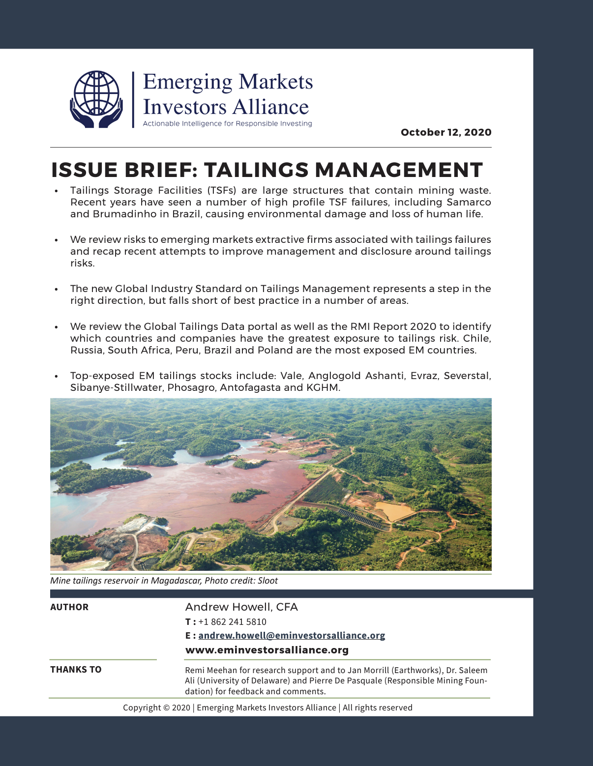 Issue Brief on Tailings